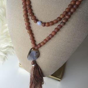 NWOT Mala with Tassel, Bohemian Jewelry